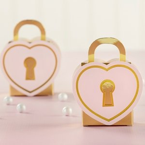 Love Lock Favor Box (Set of 12) image