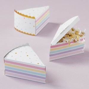 Cake Slice Favor Box (Set of 12) image