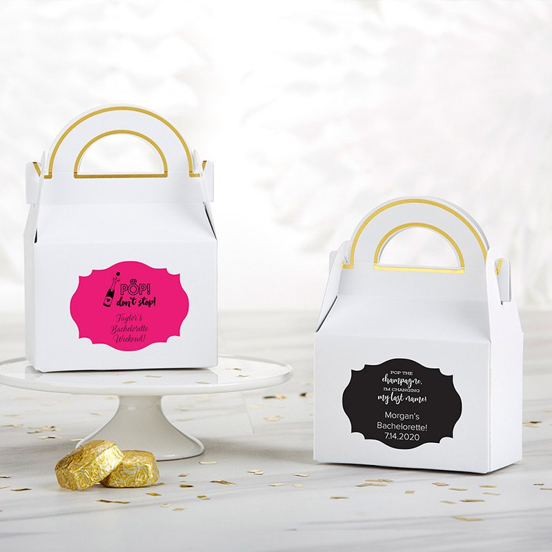 Personalized Bachelor or Bachelorette Gable Favor Box (Set o image