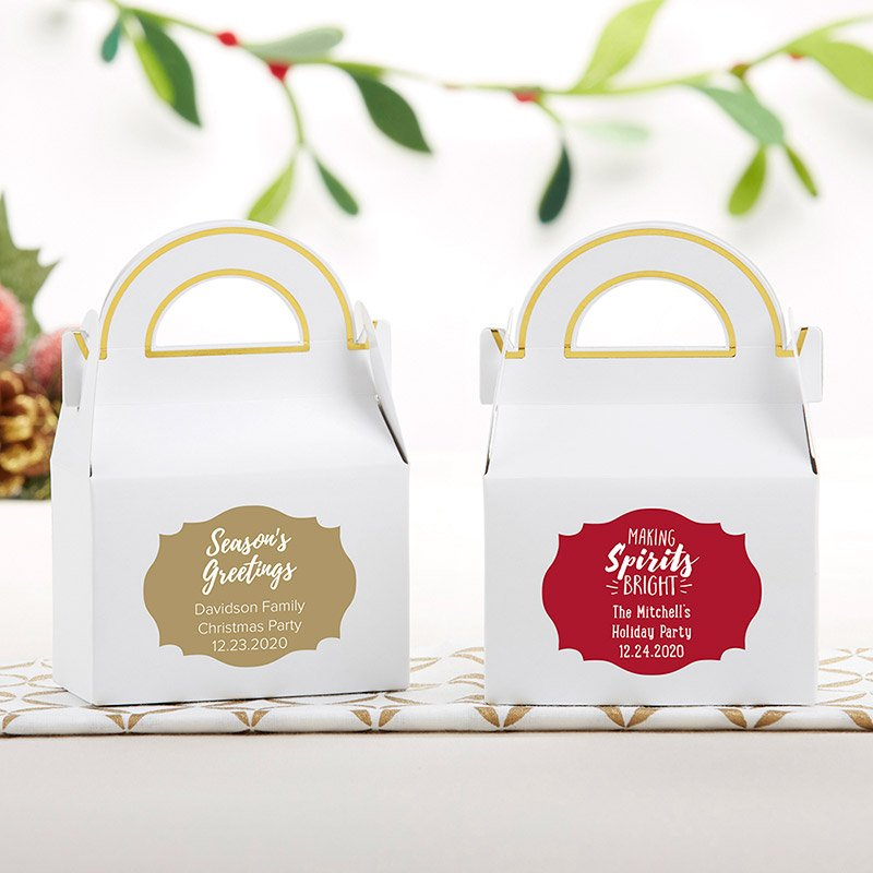 Personalized Holiday Gable Favor Box (Set of 12) image
