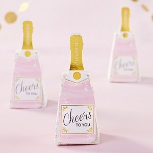 Pink Champagne Favor Box (Set of 12) image