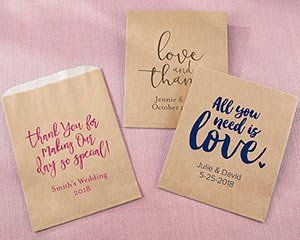 Personalized Kraft Goodie Bag - Wedding (Set of 12) image