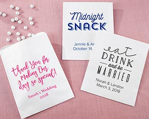 Personalized Wedding White Goodie Bag (Set of 12) image