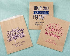 Personalized Birthday Kraft Goodie Bag (Set of 12) image