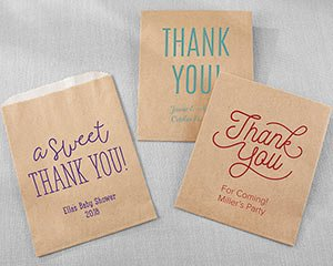 Personalized Kraft Goodie Bag - Thank You (Set of 12) image