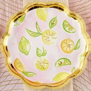 Cheery and Chic Citrus Paper Plates image