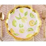 Cheery and Chic Citrus Paper Plates
