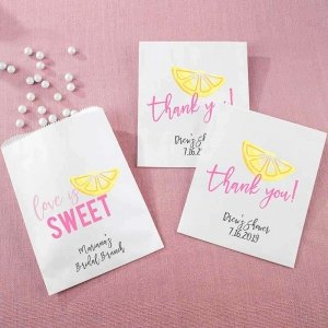 Personalized White Goodie Bag - Cheery & Chic (Set of 12) image