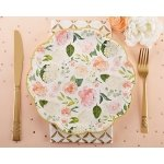 Floral Paper Plates (Set of 8)