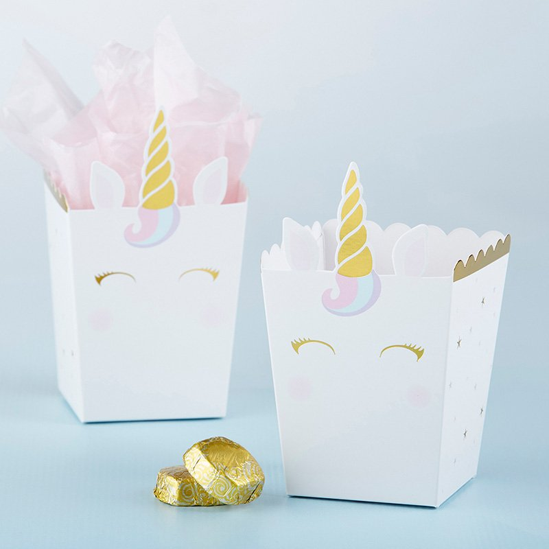 Unicorn Popcorn Favor Box (Set of 12) image