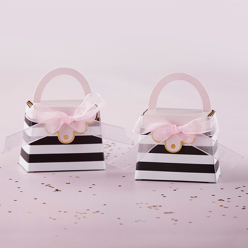 Striped Purse Favor Box (Set of 12) image