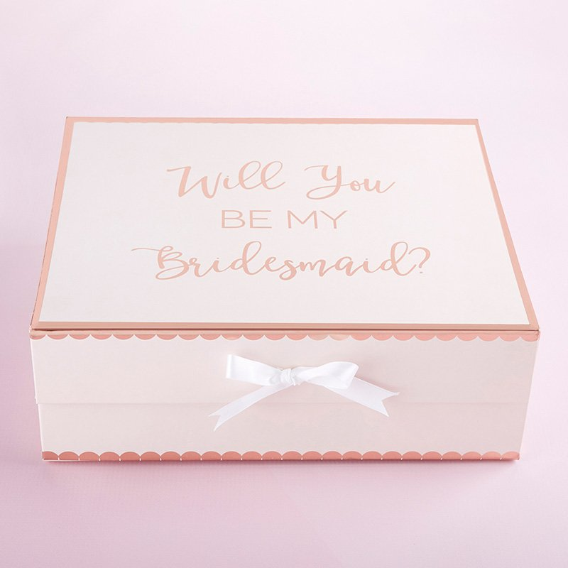 Will You Be My Bridesmaid Pink Gift Box image