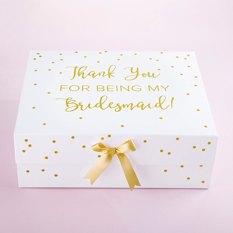 Thank You For Being My Bridesmaid Gift Box (White) image