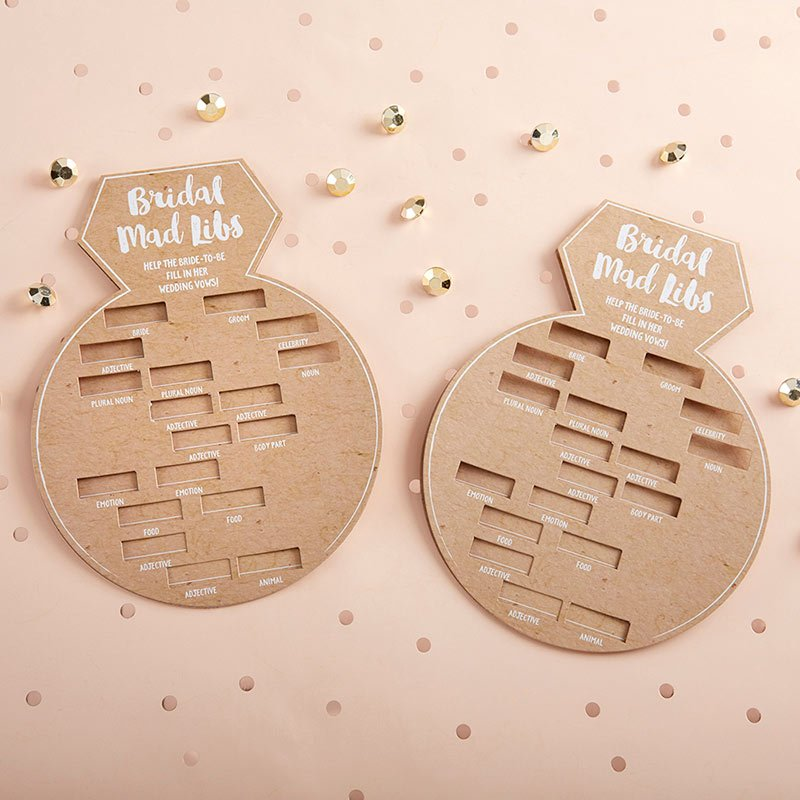 Kraft Bridal Shower Ring Shape Game Card (Set of 50) image