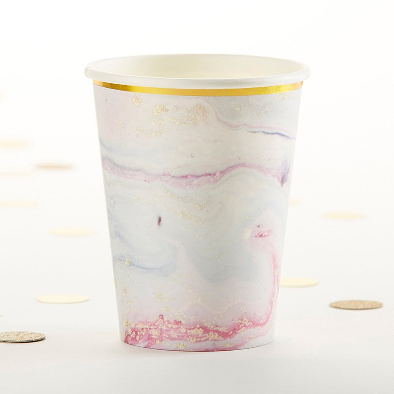 Marbleized Paper Cups (Set of 8) image
