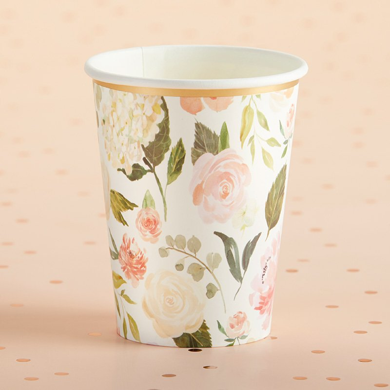 Floral 8 oz. Paper Cups (Set of 8) image