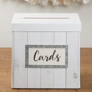 Rustic Wood Card Box image