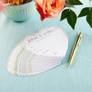 Floral Wedding Advice Card - Heart Shape (Set of 50) image