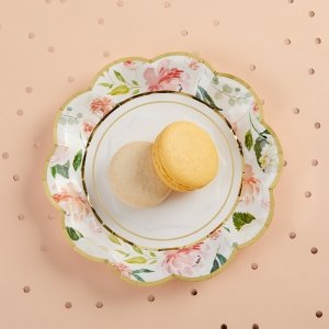 Floral 7 in. Paper Plates (Set of 16) image