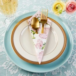 Tea Time Whimsy Napkins - Pink (Set of 30) image