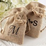 Rustic Renaissance Burlap Favor Bags (Set of 12)
