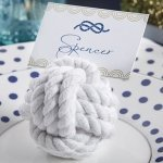 Nautical Cotton Rope Knot Place Card Holder (Set of 6)