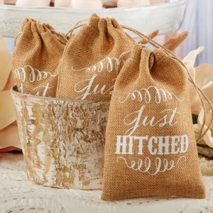 Just Hitched Burlap Favor Bags (Set of 12) image