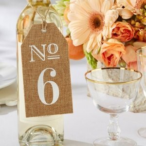 Burlap Table Numbers image