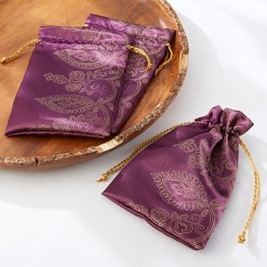 Amethyst Jewel Indian Favor Bags (Set of 12) image
