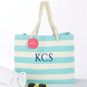 Striped Cabana Tote bag with Rope Handles image