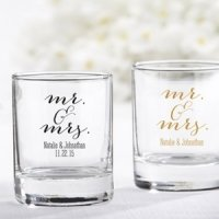 Personalized Mr. & Mrs. Shot Glass Votive Holder