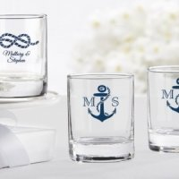 Nautical Theme Personalized Shot Glass or Votive Holder