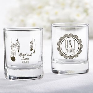 Personalized Boho Shot Glass/Votive Holder Favors image