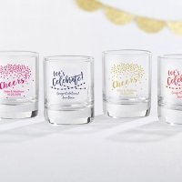 Personalized Party Time Shot Glass Votive Holder