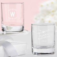 Personalized Rustic Bridal Shower Shot Glass/Votives