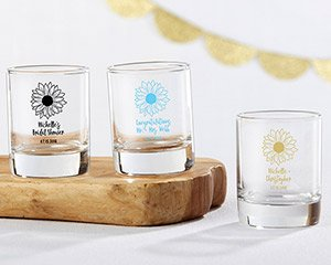 Personalized Sunflower 2 oz Shot Glass Votive Holder image