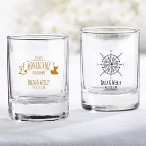 Personalized Travel and Adventure Shot Glass Votive Holder image