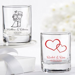 Personalized Shot Glass Wedding Favors (27 Designs) image