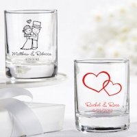 Personalized Shot Glass Wedding Favors (27 Designs)