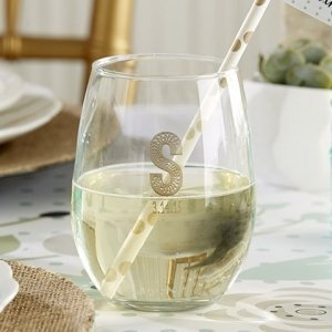 Rustic Theme Personalized Stemless Wine Glasses (9 oz) image