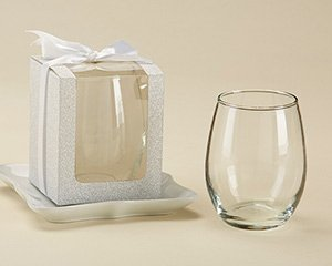 Silver 9 oz Glassware Gift Box with Ribbon (Set of 12) image