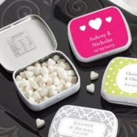 Heart Personalized Mint Wedding Favor Tins (165 Designs)