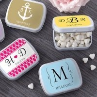 Custom Monogram Mint Tin Favors 165 Designs