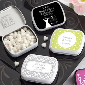 Personalized Bride and Groom Wedding Mint Tins (165 Designs) image