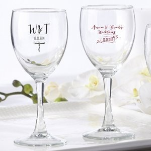 Personalized Vineyard Design 8 oz Wine Glass image