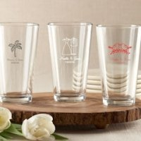 Personalized Wedding Favors Pint Glasses