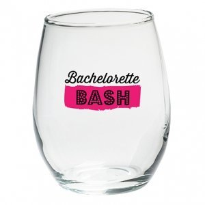 Bachelorette Bash Stemless Wine Glasses (Set of 4) image
