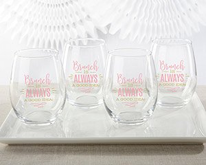 Brunch Is Always A Good Idea 15 oz. Stemless Wine Glass (Set image