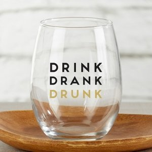 Boozie Birthday 15 oz. Stemless Wine Glass - (Set of 4) image