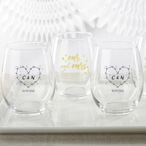 Personalized Under the Stars 15 oz Stemless Wine Glass image